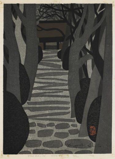 Jacko-in-Kyoto, Shin Hanga print