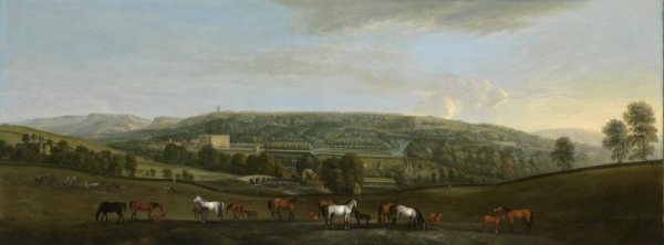 Chatsworth House and Park, ca. 1725, Pieter Tillemans