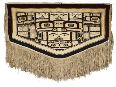 Chilkat Blanket. Native American, Tlingit people, Ketchikan, Alaska, 19th century. Goat wool, cedar bark. 35 1/4 × 65 3/4 inches. Museum purchase, 1956.48.48.