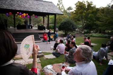Members of the Asian Art Society enjoy a Moon Viewing Party at the Birmingham Botanical Gardens