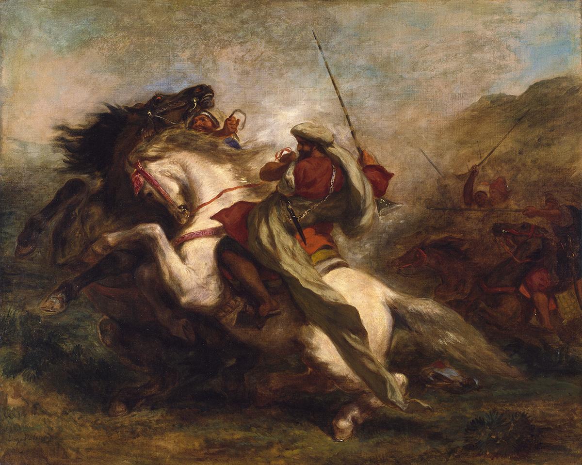 Delacroix, Collision of Arab Horsemen