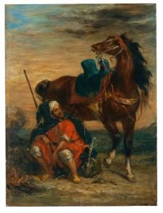 Eugène Delacroix, French, 1798-1863, Arab Rider, ca. 1854, oil on panel, Museo Thyssen-Bornemisza, Madrid (inv. 125 [1972.20])