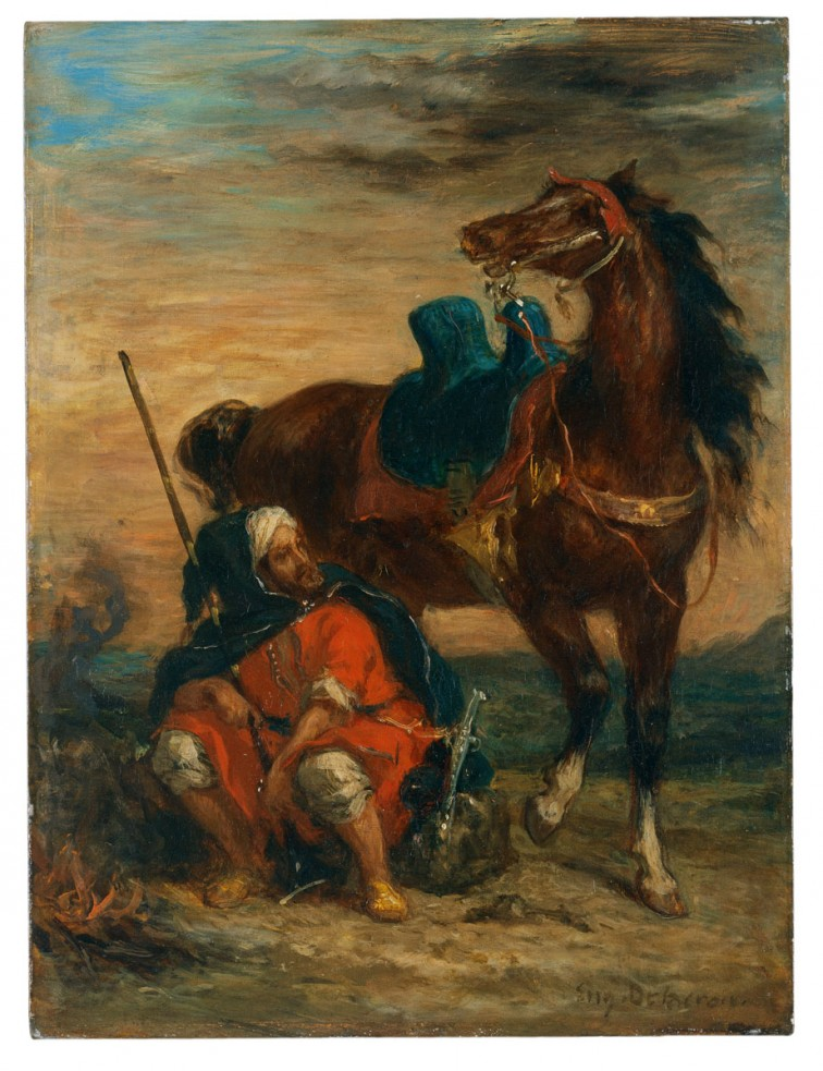 Eugène Delacroix, French, 1798-1863, Arab Rider, ca. 1854, oil on panel, Museo Thyssen-Bornemisza, Madrid (inv. 125 [1972.20])