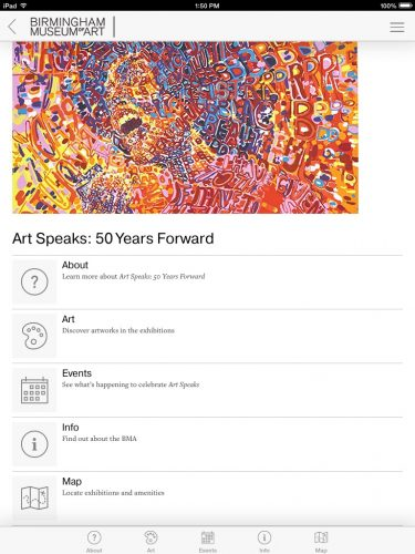 Art Speaks mobile app
