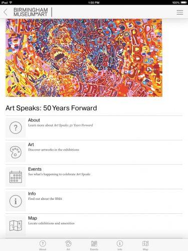 iPad-Art Speaks home