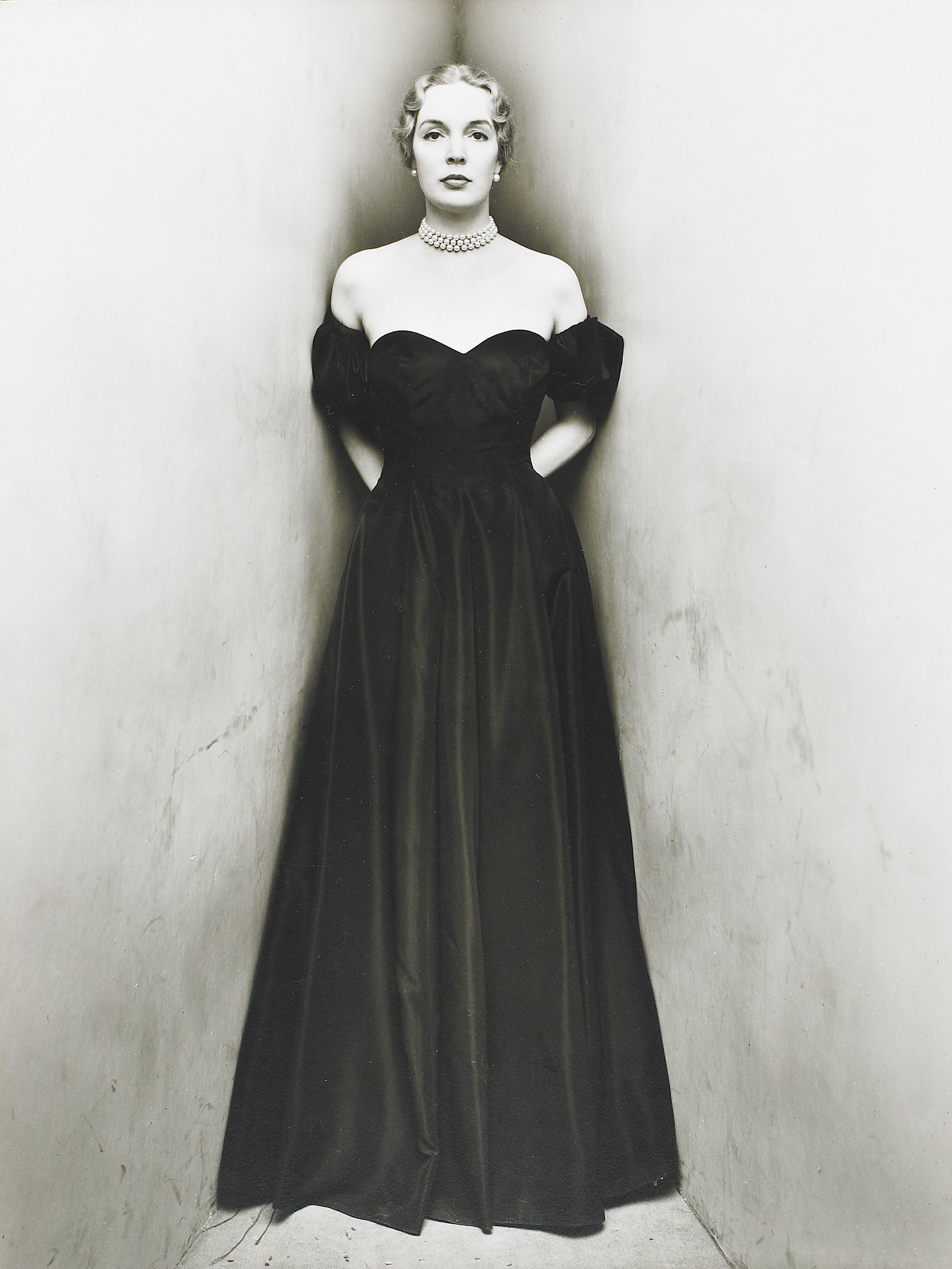 """Mrs. William Rhinelander Stewart, née Janet Newbold"" (1948), Irving Penn, American (1917-2009). Gelatin silver print. Museum purchase with funds provided by Members of the Museum. 1990.113."