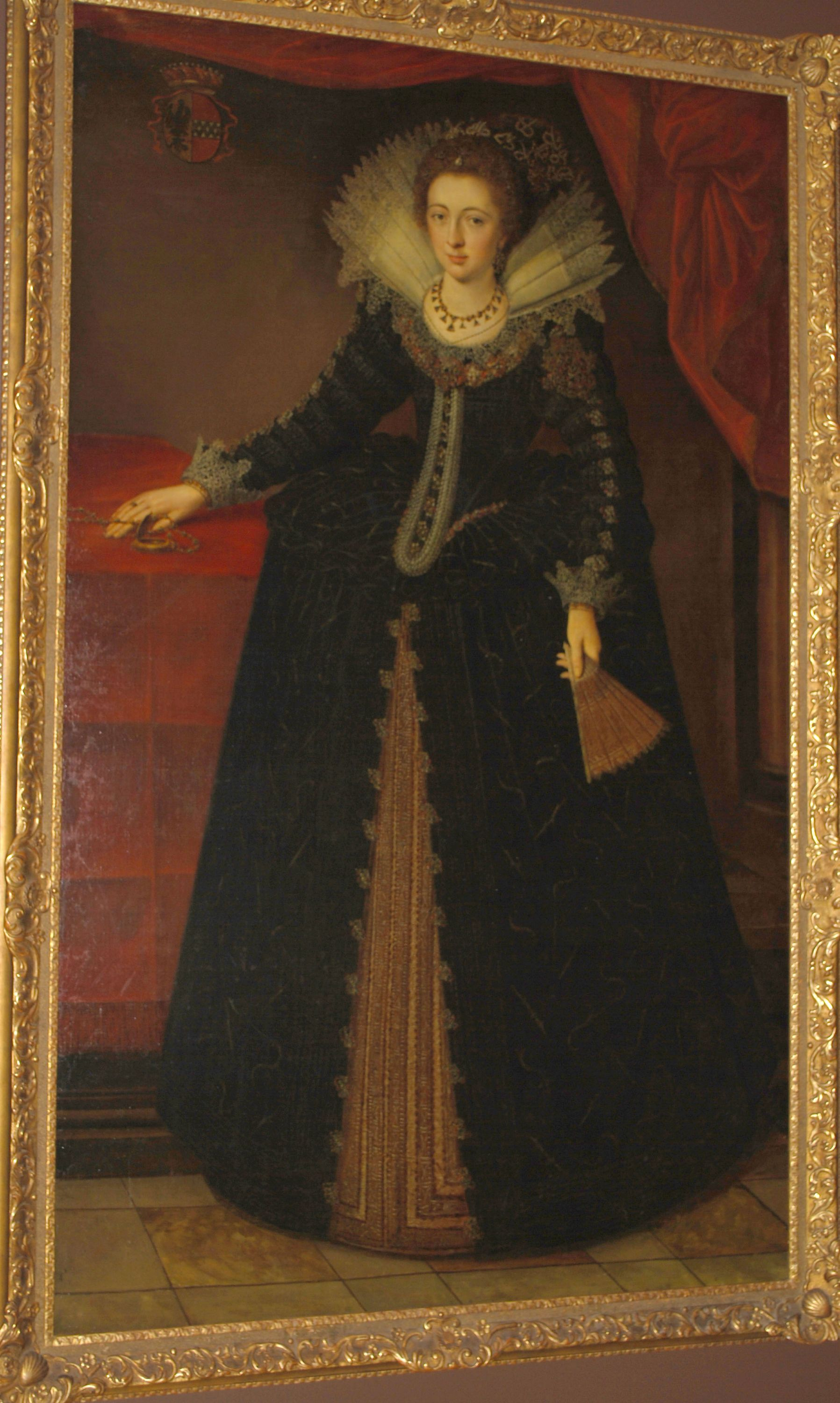 """Marguerite de Steeland de Gaud, Lady of Hasselt"" (Early 17th century), Attributed to Otto van Even, Flemish (1556-1629). Oil on canvas. Collection of the Art Fund, Inc. at the BMA. Gift of Mrs. Caroline Patterson Ireland in memory of Captain and Mrs. Hilton Johnson. AFI22.1983."