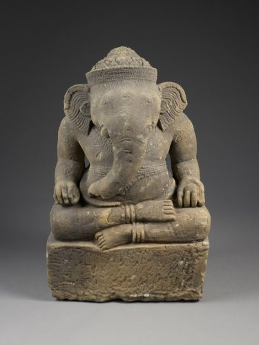 Ganesha, 10th century. Cambodian, Angkor style. Sandstone. Gift of Dr. and Mrs. Charles B. Crow, Jr. and Mr. and Mrs. William A. Grant, Jr., 1978.73