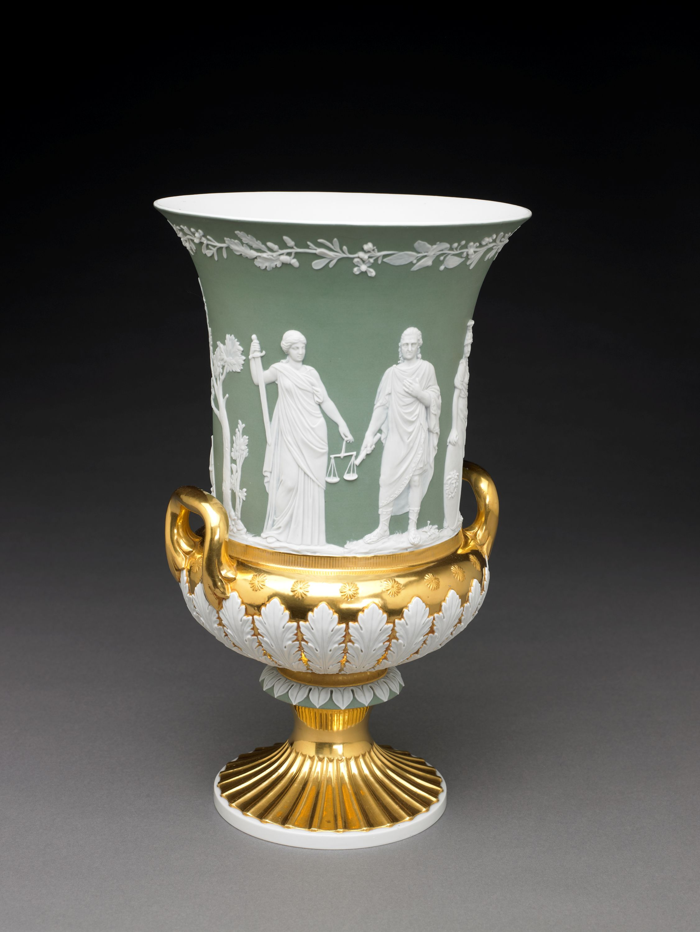 The BMA is lucky to call itself the home of the largest collection of Wedgwood outside of England. We couldn't get through this list without sharing a little bit of green – it is St. Patrick's Day, after all! // Vase, Meissen porcelain manufactory, est. 1710. Meissen Germany, 1818. Hard-paste porcelain with enamel decorations and gilding. Collection of the Art Fund, Inc. at the BMA. Purchase in honor of Donald M. James, Chairman of the Board, 2002-2005, AFI7.2005.