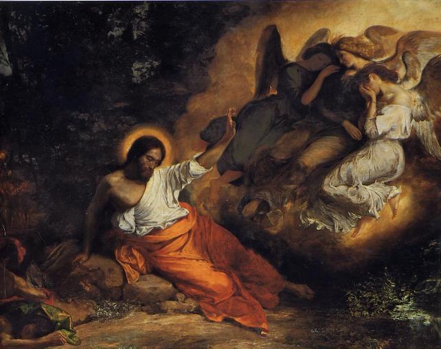 Eugène Delacroix (1798-1863)  Christ in the Garden of Olives, 1824-1827  Oil on canvas - 294 x 362 cm Paris, Eglise Saint-Paul-Saint-Louis.