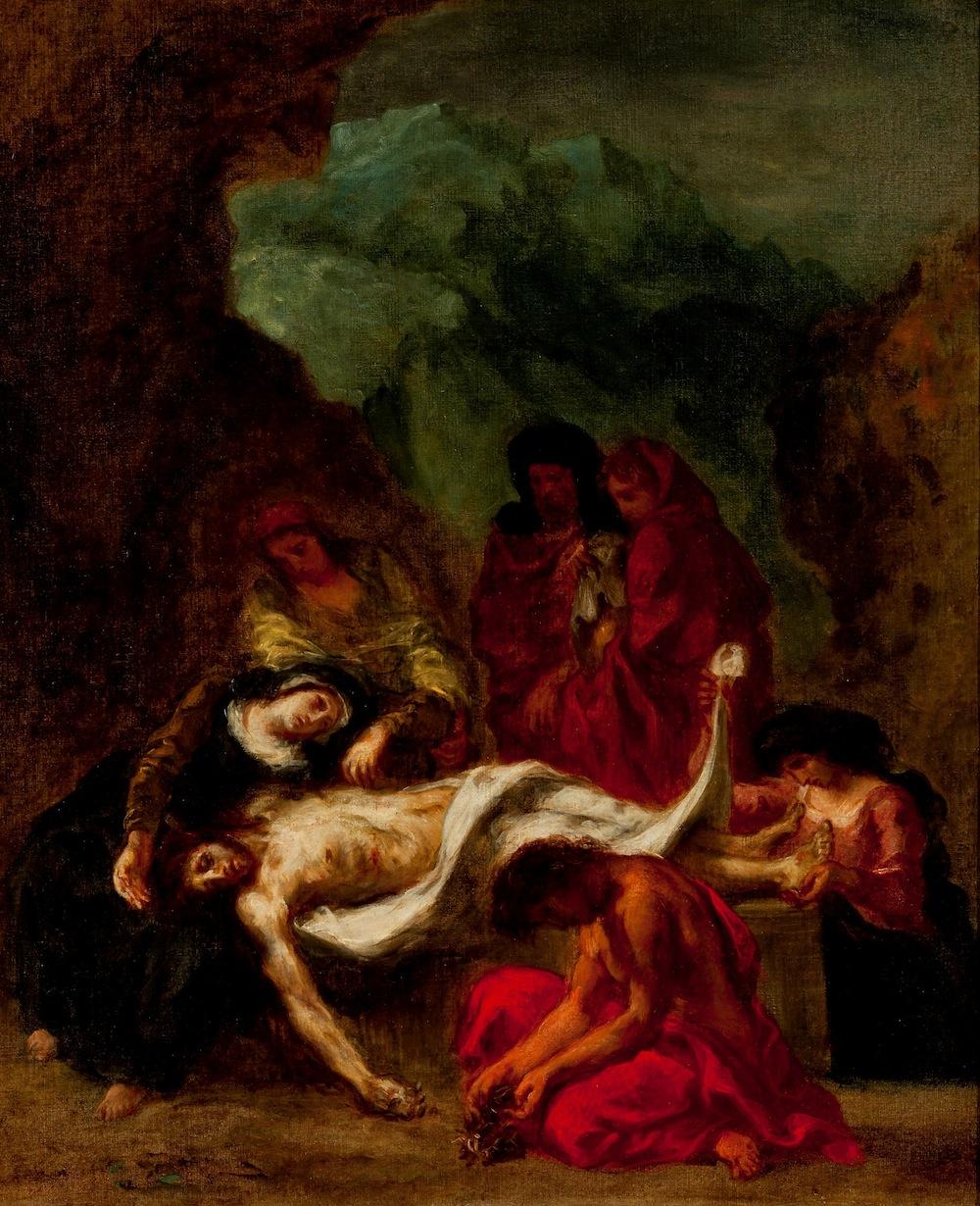 Plate 13, Delacroix, The Entombment