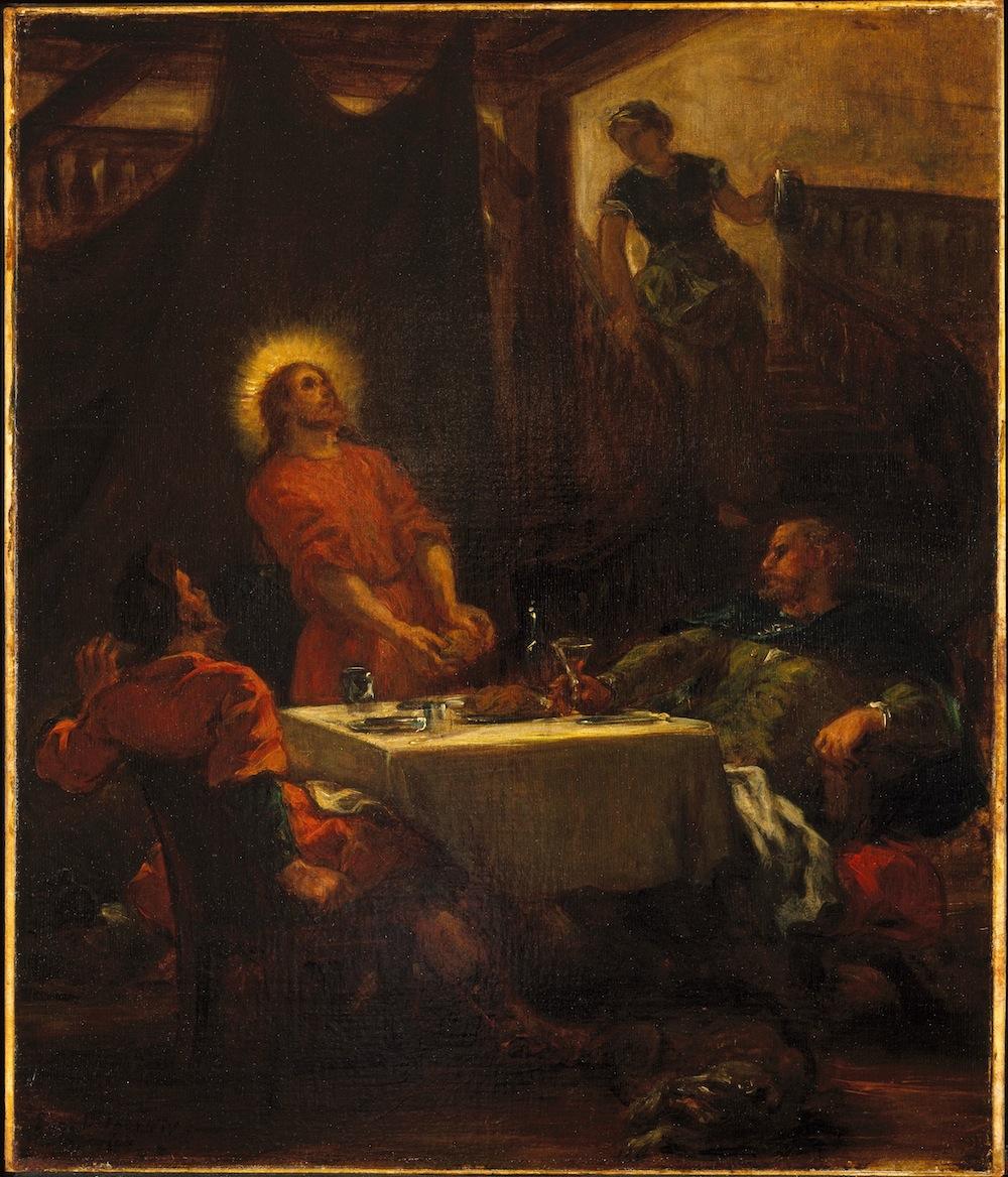 Plate 16, Delacroix, The Disciples at Emmaus