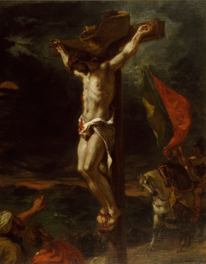 """""""Christ on the Cross"""" (1846), Eugène Delacroix, oil on canvas, 80x64.2cm,  Walters Art Museum."""
