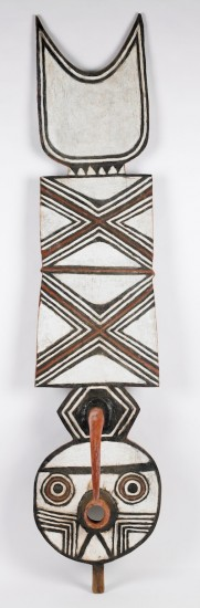 Plank Mask (nwententay), Late 20th century, Yacouba Bonde, Bwa people, Village of Boni, Burkina Faso. Wood, natural pigments. Museum purchase with funds provided by Martha Pezrow. 2004.54