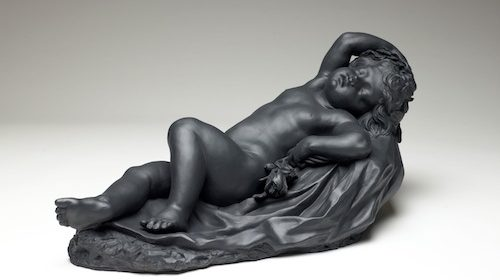 Somnus, about 1774. Wedgwood (est. 1759), Staffordshire, England. Stoneware (black basalt). 11 1/2 x 22 1/2 x 14 inches. Collection of the Art Fund, Inc., at the Birmingham Museum of Art; The Buten Wedgwood Collection, gift through the Wedgwood Society of New York, 300.2008.