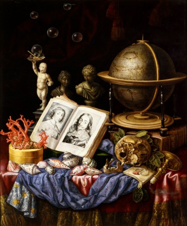 Slow Art Sunday: Allegory of Charles I of England and Henriette of France in a Vanitas Still Life