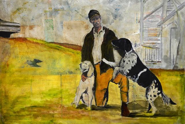 The Homecoming, Robert Belcher. Mixed media on canvas. Mortimer Jordan High School, Kimberly, AL.
