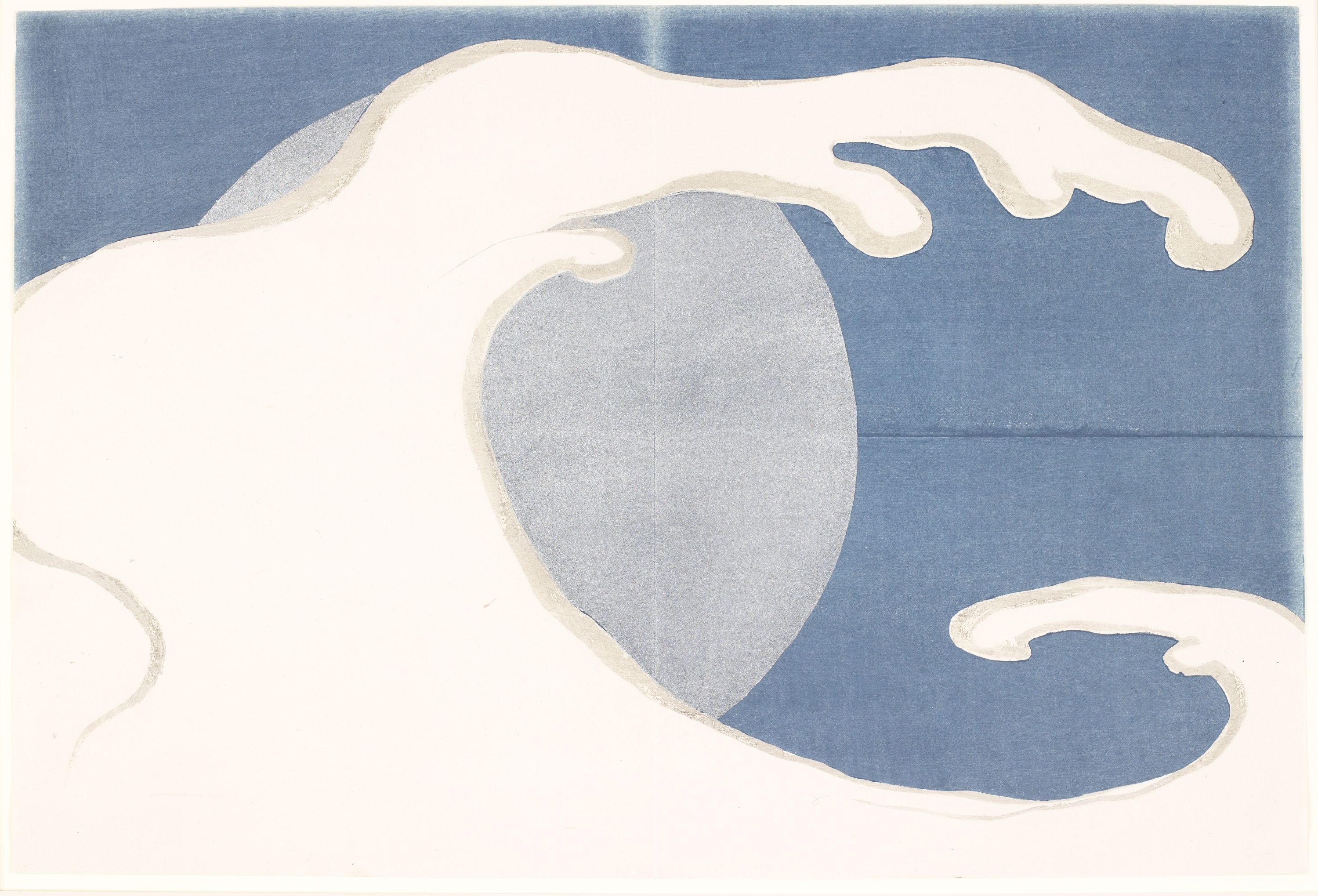 """Tatsunami (A Cresting Wave"" Kamisaka Sekka, Japan (1866-1942). Woodblock print, ink and color on paper. Collection of the Art Fund Inc. at the BMA, AFI238.2010.9."