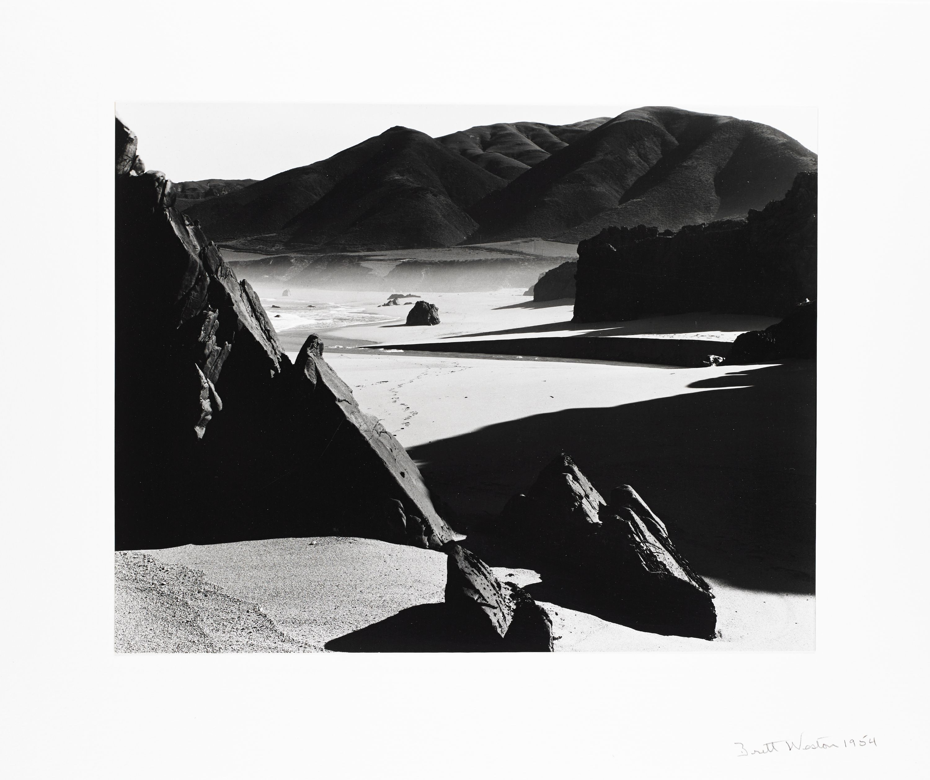 """Garapata Beach, California"" Brett Weston, United States (1911-1993). Gelatin silver print, photograph. Collection of the Art Fund Inc at the BMA AFI78.2013."