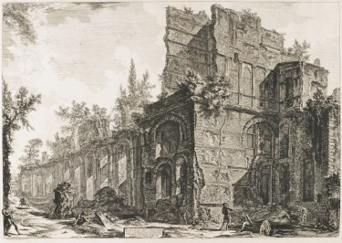 Hadrian's Villa: The Remains of the so-called Pretorio, 1774, Giovanni Battista Piranesi (Italian, 1720-1778), etching, Collection of the Art Fund, Inc. at the Birmingham Museum of Art; Gift of Roy Curtis Green in memory of Walter Marshall Ellis, AFI202.2013