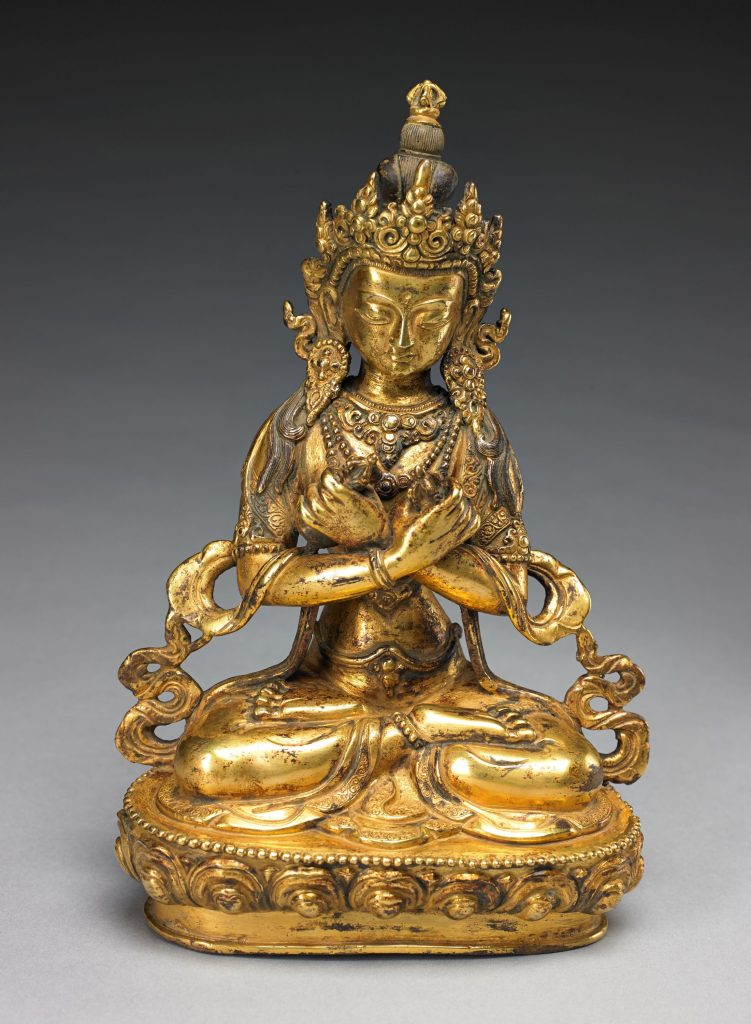 Vajradhara, 18th/19th century. Nepal. Gilt copper alloy. Private Collection, New York, EX3.2013.11.