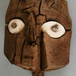 "Mummies are a classic Halloween costume, but you can get very authentic if you copy the style of this mummy mask! // ""Mummy Mask"" Chancay culture, Peru (1000-1460), 1100-1460. Wood and shell. Museum purchase, 1964.104.1"