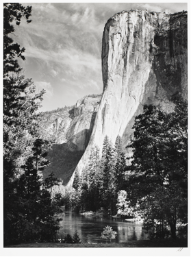 Ansel Adams (American, 1902-1984), El Capitan, Yosemite National Park, 1950. Gelatin silver , Collection of the Art Fund, Inc. at the Birmingham Museum of Art; Gift of John Hagefstration.