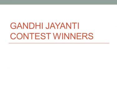 Gandhi Jayanti 2014
