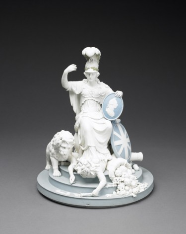 Britannia Triumphant. Wedgwood, 1798-1809. Stoneware (jasperware). The Dwight and Lucille Beeson Wedgwood Collection,1990.1.