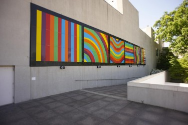 Bands of Color in Various Directions. Sol LeWitt (American, 1928-2007), 2001. Vinyl on aluminum. Collection of the Art Fund, Inc. at the Birmingham Museum of Art; Purchase with funds provided by Dr. and Mrs. John Poynor and the Bluff Park Art Association in honor of the Museum's 50th Anniversary, AFI2.1999.1. © 2013 The LeWitt Estate / Artists Rights Society (ARS), New York.