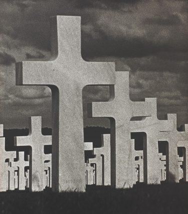 """Dodenakker (Cemetery)"" (About 1978), Paul Thys (Belgian), possibly gum bichromate over platinum print. Collection of the Birmingham Museum of Art; Anonymous gift 00.235"