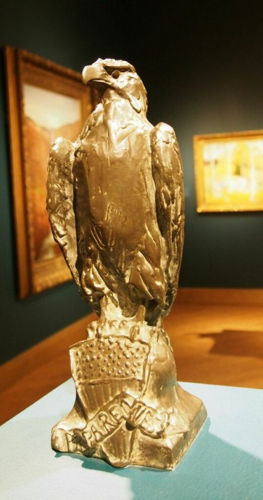 "Paul Wayland Bartlett (American, 1865-1925), ""Eagle of Preparedness,"" 1916. Bronze. 13 x 4 1/2 x 3 3/4 in. Collection of Birmingham Museum of Art; Gift of Mrs. Armistead Peter III  1958.37"