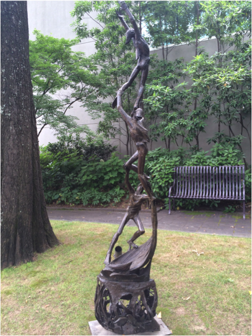 """The sculpture garden is a nice place to visit alone, or bring along a group of friends! // """"Ascent"""" Barbara Hult Lekberg, bronze. BMA collection 1965.45."""