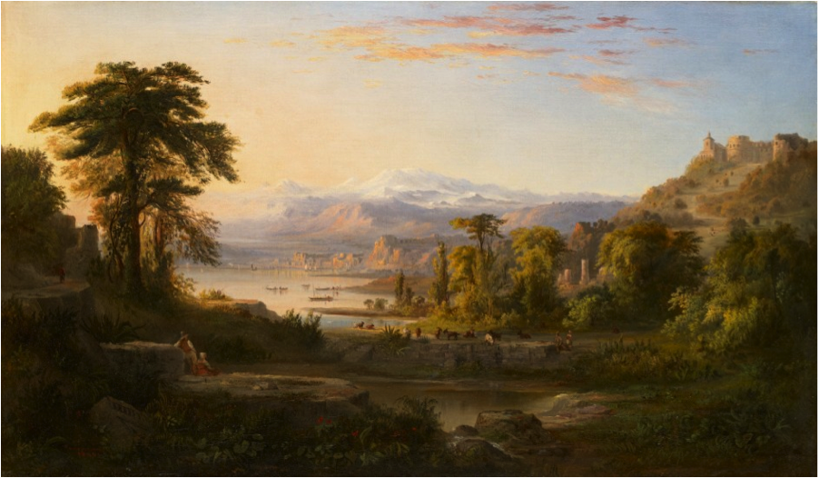 """A Dream of Italy,"" 1865, Robert S. Duncanson, American (1821-1872), oil on canvas. Collection of the Art Fund, Inc. at the Birmingham Museum of Art AF110.2009."