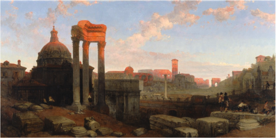 """The Remains of the Roman Forum,"" 1861, David Roberts, Scottish (1796-1864), oil on canvas. Museum purchase with donations provided by the J.A. Vann Charitable Trust in memory of Mr. and Mrs. James Allen Vann 1984.73."