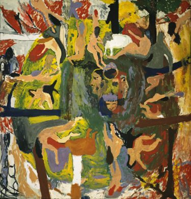 Ornette. Bob Thompson, 1960-1961. Oil on canvas. 80 7/8 × 77 5/8 inches. Museum purchase with funds provided by the Junior Patrons of the Birmingham Museum of Art, 2002.129.