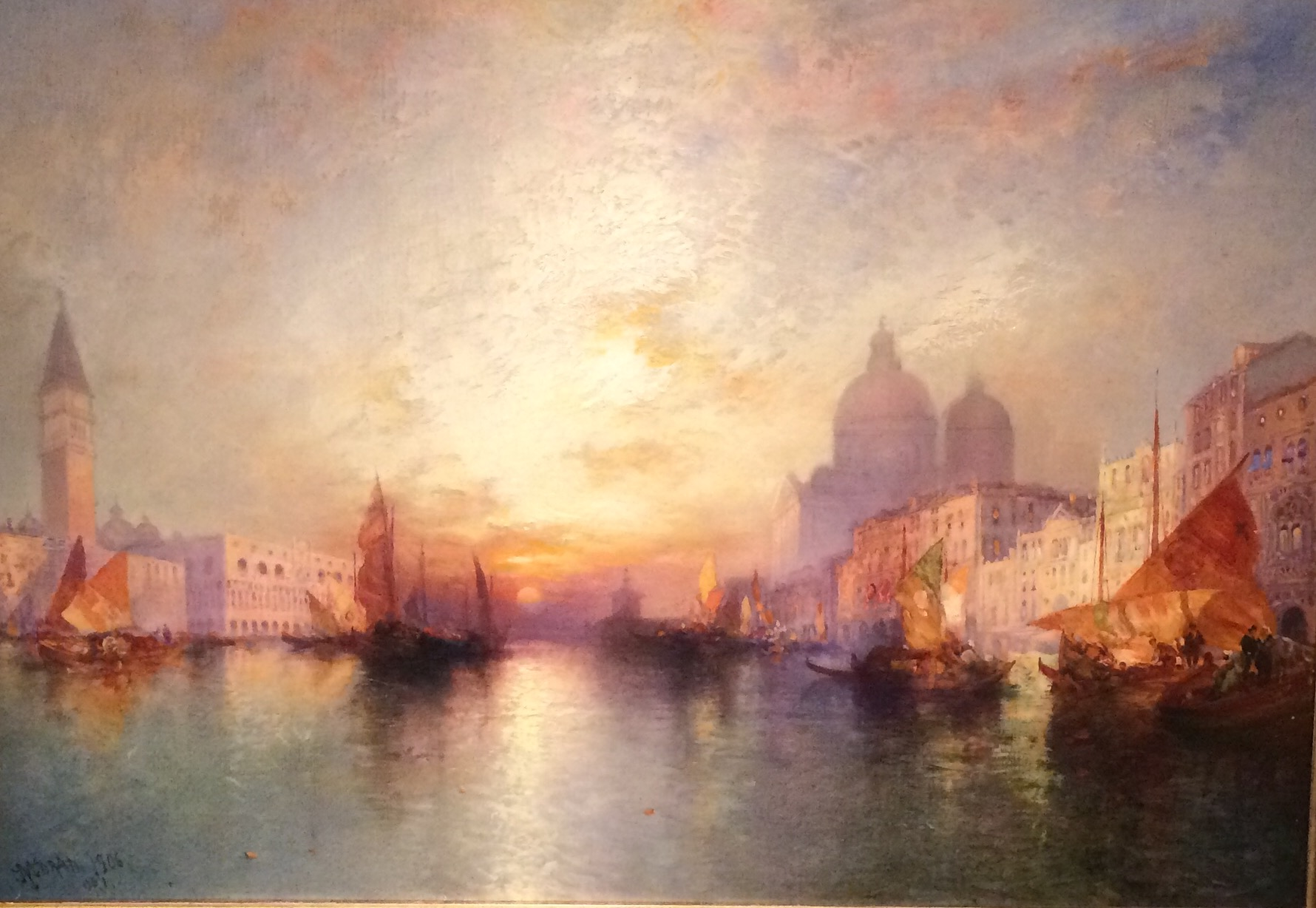 """Venice: Grand Canal at Sunset"" by Thomas Moran"