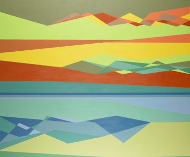 Gravity's Rainbow. Odili Donald Odita (American, born Nigeria, 1966), 2001. Acrylic on canvas. Purchased in memory of Iain MacPherson Alexander by docents, friends of the Collector's Circle, for Contemporary Art, and Margaret, Brenden, and Bruce Alexander, 2002.138.