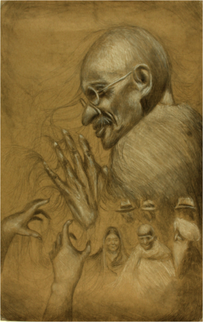 Honorable mention: Gandhi's Influence  by Michelle Nguyen  Jefferson County School of Visual Art - 11th grade