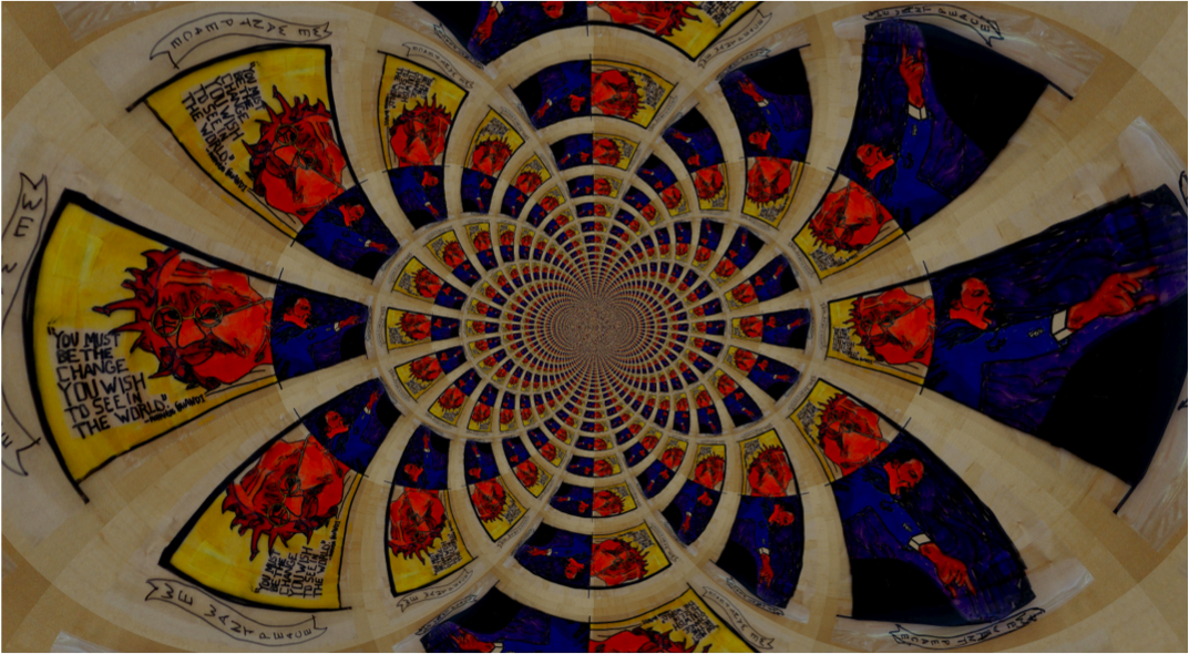 2nd Place: Kaleidoscope of Peace by Katherine WrightHomewood Middle School – 8th grade