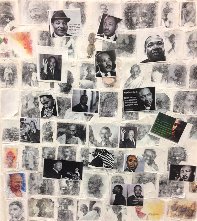 Honorable Mention: Gandhi and MLK by Paris Dickens Shades Valley High School – 11th grade