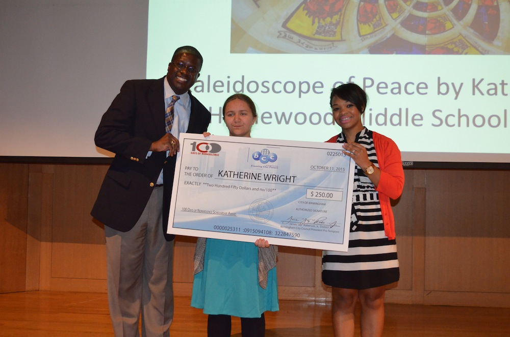 2nd Place – Katherine Wright, Homewood Middle School, 8th grade, Kaleidoscope of Peace (artwork)