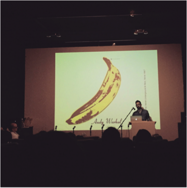 Francesco Spampinato speaking about artists' recordworks at the Contemporary Artist Book Conference