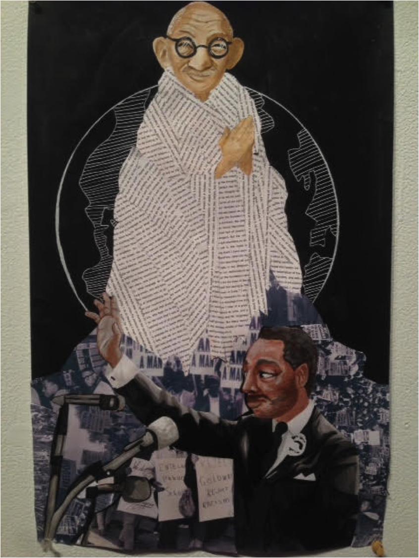 1st Place: Gandhi's Robes by Olivia PorrillAlabama School of Fine Arts 9th grade