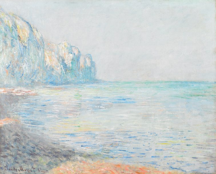 """""""Le Matin, temps brumeux, Pourville (Foggy Morning at Pourville)"""" Claude Monet, France, 1840 - 1926. Oil on canvas. Museum purchase with funds provided by 1977 and 1980-1983 Museum Dinners and Balls. 1981.40"""
