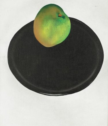 """""""The Green Apple"""" Georgia O'Keeffe, United States, 1887 - 1986. Oil on canvas. Museum purchase with funds provided by the 1981 and 1982 Museum Dinners and Balls, the Museum Store, Donors, and matching funds from Mr. and Mrs. Jack McSpadden. © 2013 Georgia O'Keeffe Museum / Artists Rights Society (ARS), New York. 1983.28"""