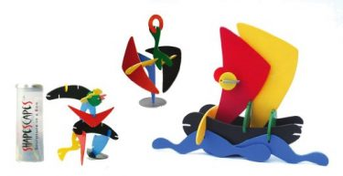 Each set of the ShapeScapeS sculpture in a box collection contains a selection of colorful pieces in whimsical shapes. The pieces are easy to put together, allowing you to make an infinite variety of vibrantly colored structures. / $24.95
