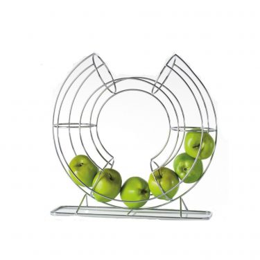 You know what they say about an apple a day! Display all of your fruit in this contemporary circle fruit holder. / $46