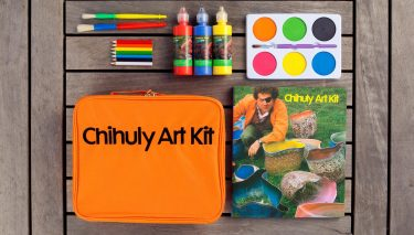 This interactive story, based on events in the life of Dale Chihuly, guides children through ten creative activities. A few projects include Marshmallow Madness, Color Compounded, and Itty Bitty Ice Wall — we'll leave the activity to your imagination!  /  $28.00