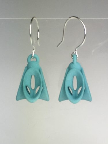 Trendy and techy? These 3D printed earrings are both! Made in Massachusetts. / $28.00